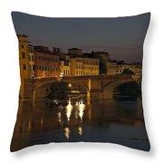 Florence - Ponte San Trinita Throw Pillow