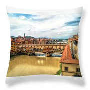 Florence Bridges II Throw Pillow