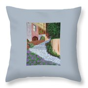 Florence Italy Apartments Throw Pillow