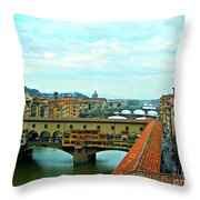 Florence Shopping Bridge Throw Pillow