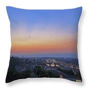 Florence Sunset Throw Pillow