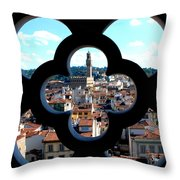 Florence Through A Unique Lens Throw Pillow
