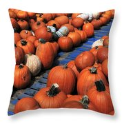 Florida Gator Pumpkins Throw Pillow