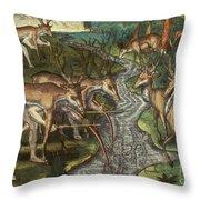 Florida: Hunters, C1591 Throw Pillow