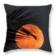 Florida Moonrise Throw Pillow