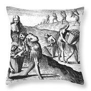Florida: Storing Food, 1591 Throw Pillow