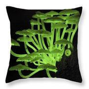 Fluorescent Fungus Throw Pillow