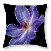 Flower - Clematis - Abstract Throw Pillow