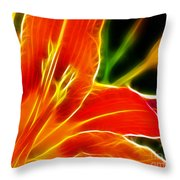 Flower - Lily 1 - Abstract Throw Pillow