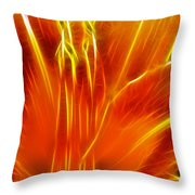 Flower - Orange - Abstract Throw Pillow