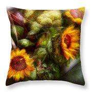 Flower - Sunflower - Gardeners Toolbox  Throw Pillow