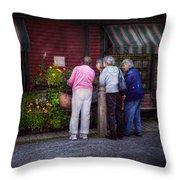 Flower - The Garden Club  Throw Pillow