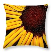 Flower - Yellow And Brown - Abstract Throw Pillow