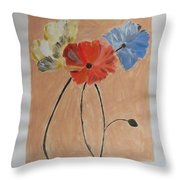 Flower And Bud Throw Pillow