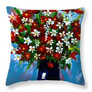 Flower Arrangement Bouquet Throw Pillow by Patricia Awapara