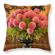 Flower Arrangement Chateau Chenonceau Throw Pillow