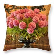 Flower Arrangement Chateau Chenonceau Throw Pillow