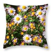 Flower Assault Throw Pillow