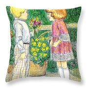 Flower Children Throw Pillow