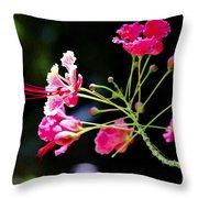 Flower Digital Painting Throw Pillow