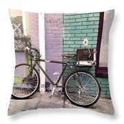 Flower For Later Urban Art Throw Pillow