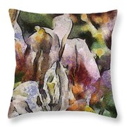 Flower Full Of Color Throw Pillow