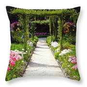 Flower Garden - Digital Painting Throw Pillow