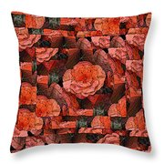 Flower Garden Delightful Throw Pillow