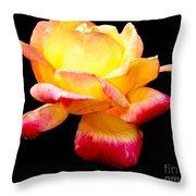 Flower Glow Throw Pillow