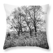 Flower Homage To The Trees Throw Pillow