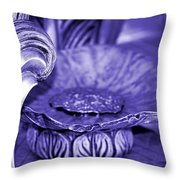 Flower In Stone Throw Pillow