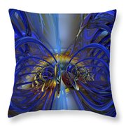 Flower In The Abstract Light Fx  Throw Pillow