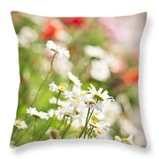 Flower Meadow Throw Pillow by Elena Elisseeva