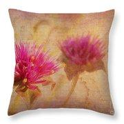 Flower Memories Throw Pillow