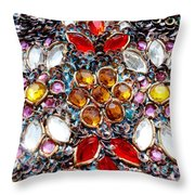 Flower Of Beads Throw Pillow