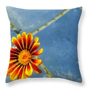 Flower On Water Throw Pillow