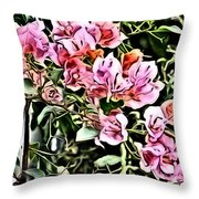 Flower Painting 0003 Throw Pillow