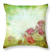Flower Pattern On Paper Throw Pillow by Setsiri Silapasuwanchai