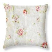 Flower Pattern Retro Design Throw Pillow by Setsiri Silapasuwanchai