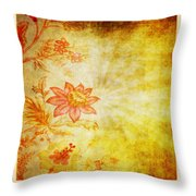 Flower Pattern Throw Pillow by Setsiri Silapasuwanchai