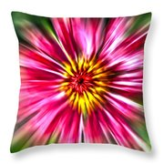 Flower Pin Wheel Throw Pillow