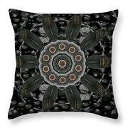 Flower Planet And Other Planets Pop Art Throw Pillow