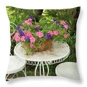 Flower Pot 4 Throw Pillow