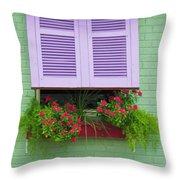Flower Pot Window Throw Pillow