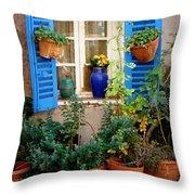 Flower Pots Galore Throw Pillow
