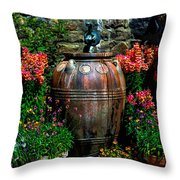Flower Potts Throw Pillow