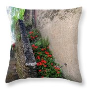 Flower Stairway Throw Pillow