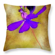 Flower Take Flight Throw Pillow by Judi Bagwell