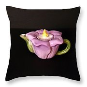 Flower Teapot Throw Pillow