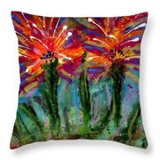 Flower Towers Throw Pillow